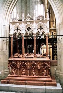 Sarkoflag z doczesnymi szczątkami króla Kazimierza Wielkiego w katedrze na Wawelu