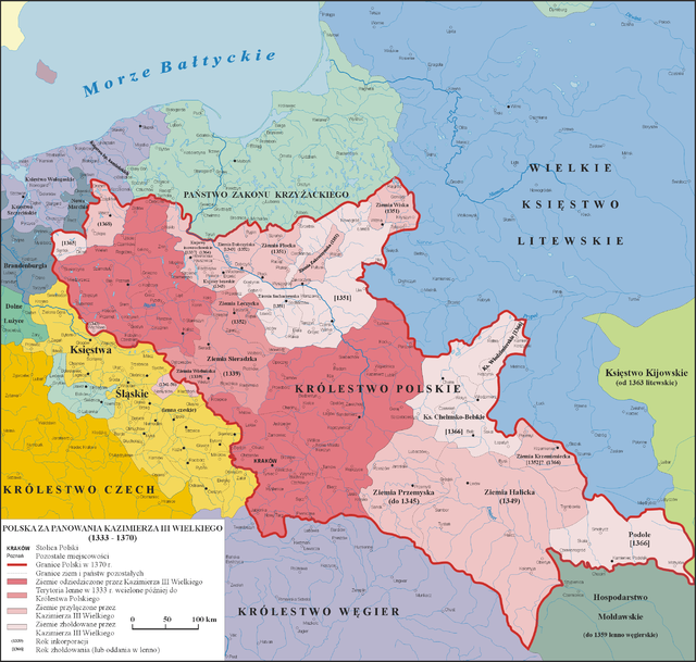 Polska za panowania króla Kazimierza Wielkiego, 1333-1370